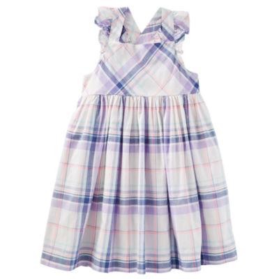 Oshkosh Cross Back Plaid Dress - Toddler Girls
