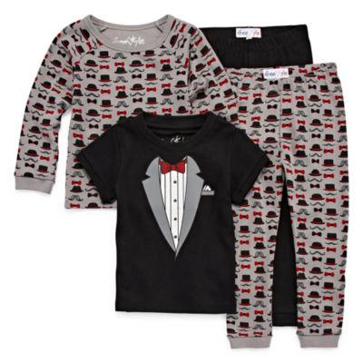 Little Man 4 PC Cotton Pajama Set - Preschool Boys