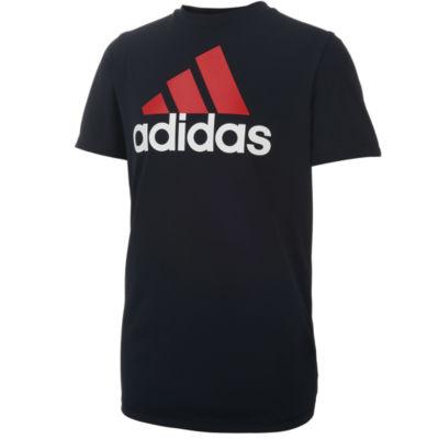 adidas Short Sleeve Crew Neck T-Shirt-Big Kid Boys