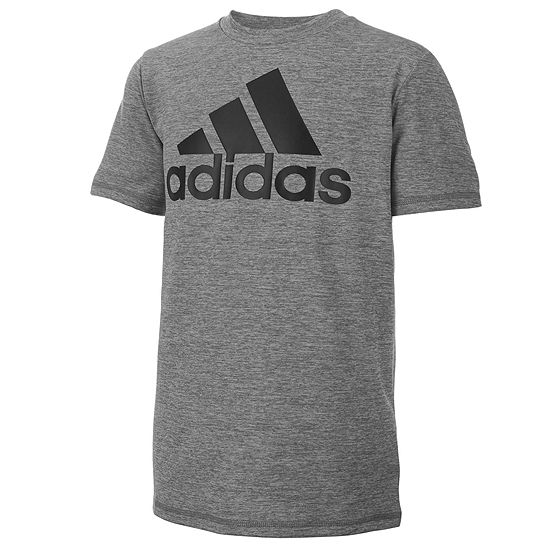 adidas Big Boys Crew Neck Short Sleeve Graphic T-Shirt