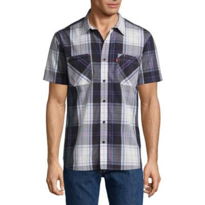 Levi's Short Sleeve Plaid Button-Front Shirt