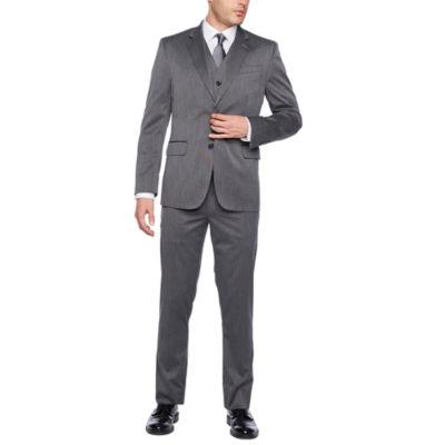 Jf J. Ferrar Dark Grey Birdseye Texture Suit Separates Slim by Jf J.Ferrar
