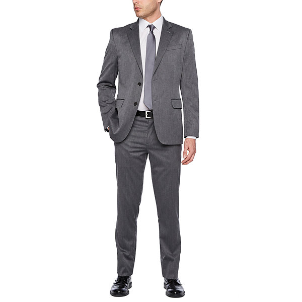 JF J.Ferrar Pin Dot Slim Fit Suit Jacket