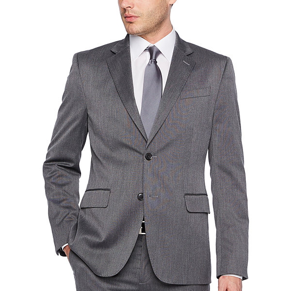 JF J.Ferrar Mens Pin Dot Slim Fit Suit Jacket