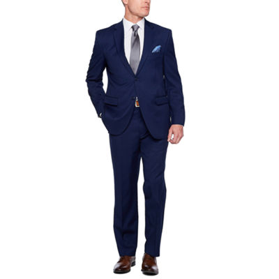 Adolfo Dark Blue Classic Fit Suit Jacket