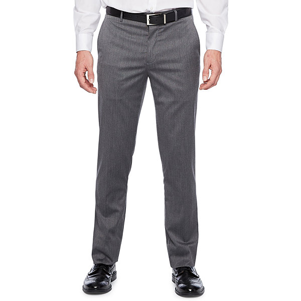 JF J.Ferrar Mens Pin Dot Stretch Slim Fit Suit Pants