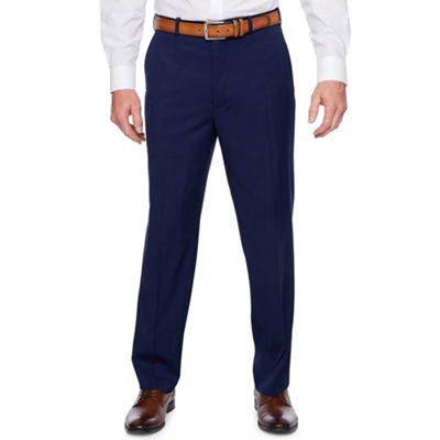 Adolfo Dark Blue Classic Fit Suit Pants