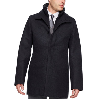 JF J.Ferrar Woven Water Resistant Interior Pockets Heavyweight Topcoat