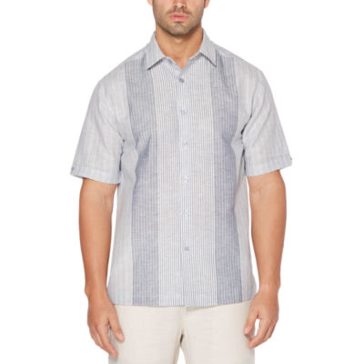 Cubavera Short Sleeve Stripe Button-Front Shirt