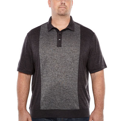Van Heusen Short Sleeve Melange Polo Shirt Big and Tall