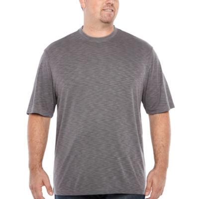 Van Heusen Air Crew Doubler Short Sleeve Crew Neck T-Shirt-Big and Tall
