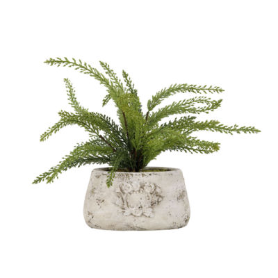 Heather Spray in Ceramic Planter