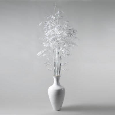 White Bamboo Tree in Spun Bamboo Vase