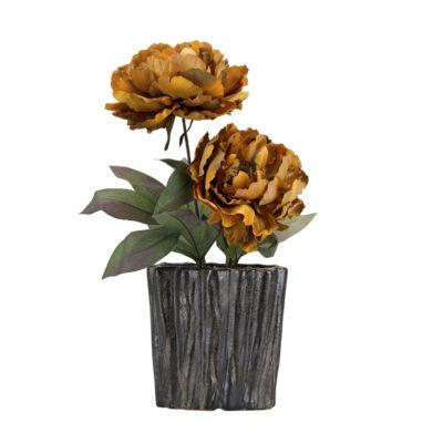 Caramel Peonies in Ceramic Planter
