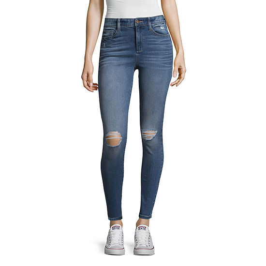 Arizona High Rise Super Slim Fit Jeggings-Juniors