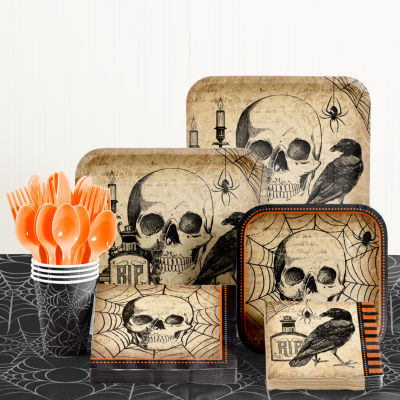 Creative Converting Spooky Symbol Halloween Party Supplies Kit