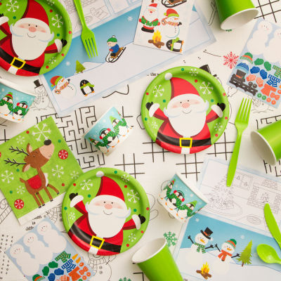 "Creative Converting Snowflake Fun Christmas ""Kids Table"" Kit"