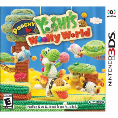 Nintendo 3DS Poochy & Yoshis Woolly World Video Game