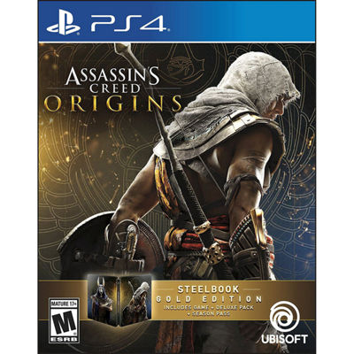 Playstation 4 Assassins Creed: Origins - Steelbook Gold Edition Video Game