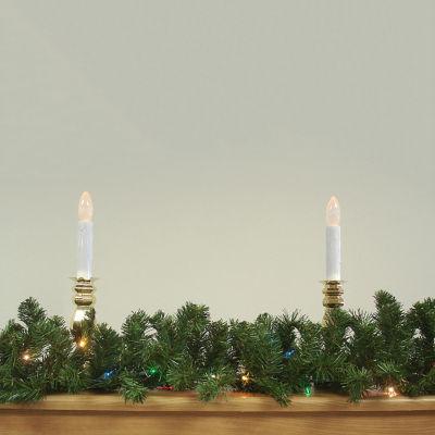 "9' x 12"" Pre-Lit Green Canadian Pine Artificial Christmas Garland - Multi Lights"""