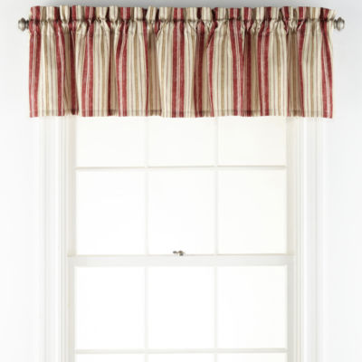 Home Expressions Eliza Rod-Pocket Tailored Valance