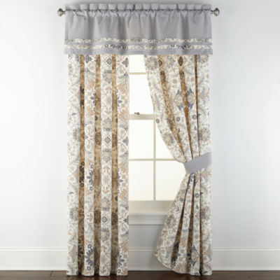 JCPenney Home Marion Light-Filtering Rod-Pocket Curtain Panel