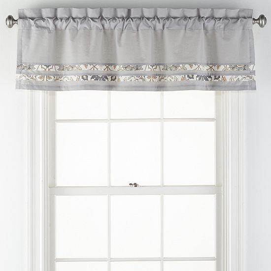 JCPenney Home Marion Rod-Pocket Tailored Valance