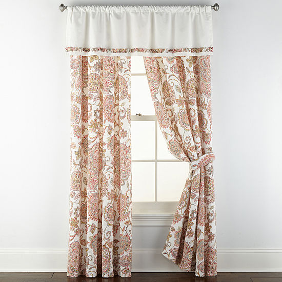 JCPenney Home Amelia Rod-Pocket Curtain Panel