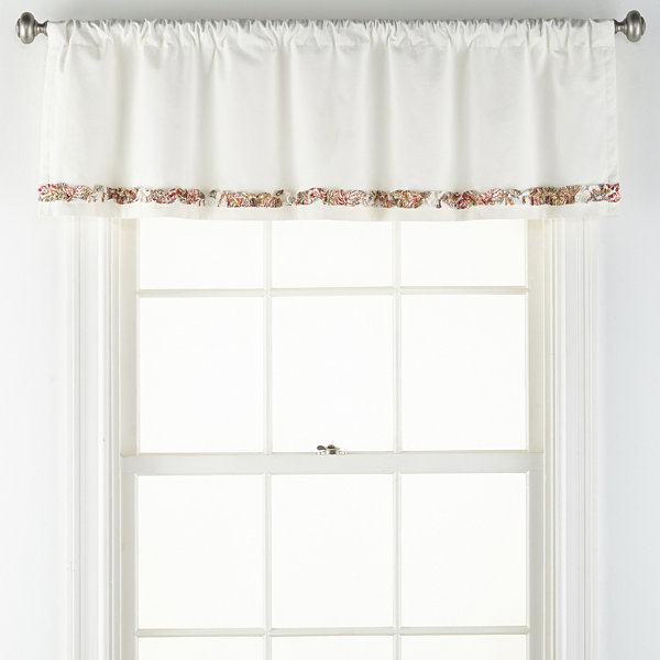 JCPenney Home Amelia Rod-Pocket Tailored Valance
