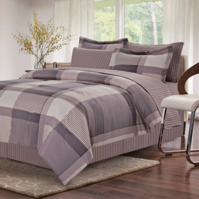 Brown & Grey Harmony Grey Complete Bedding Set