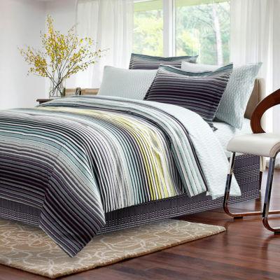 Brown & Grey Strata Dark Charcoal Complete Bedding Set