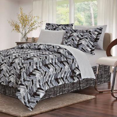 Brown & Grey Tribeca Black Complete Bedding Set