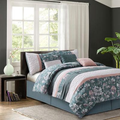 R2Zen Izalia Harlow Blush 7-piece Comforter Set