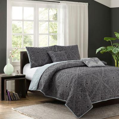 R2Zen Bastille Grey 5-piece Quilt Set
