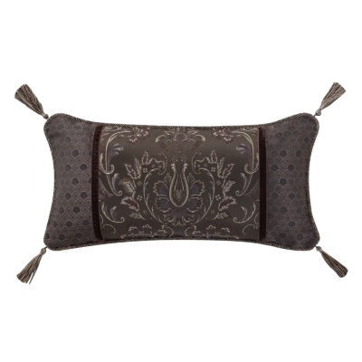 Marquis by Waterford Pierce Chocolate Damask Decorative Pillow