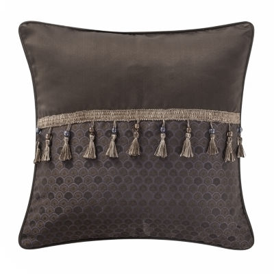 Marquis by Waterford Pierce Chocolate Decorative Pillow