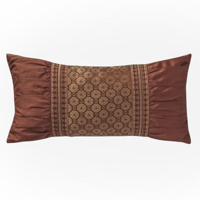 Marquis by Waterford Devlin Paprika Geometric Decorative Pillow