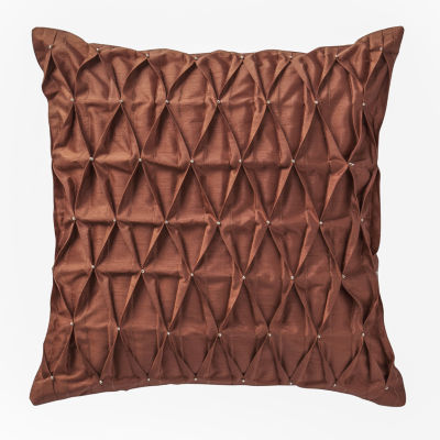 Marquis by Waterford Devlin Paprika Solid Decorative Pillow