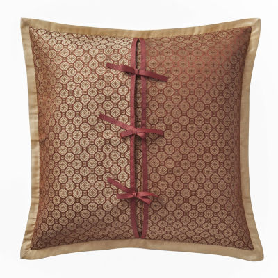 Marquis by Waterford Devlin Paprika Geometric Euro Decorative Pillow