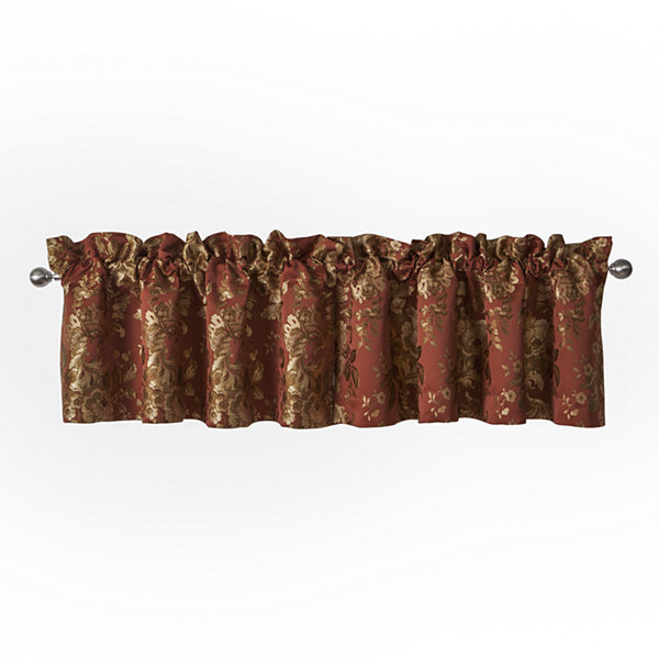 Marquis by Waterford Devlin Paprika Window Valance