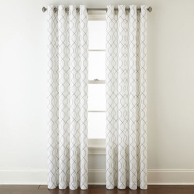 Home Expressions Pasadena Embroidery Room Darkening Curtain Panel