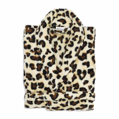 Linum Home Textiles Super Plush Luxurious Soft Leopard Print Bathrobe
