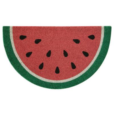 Outdoor Oasis Shape Watermelon Printed Wedge Doormat