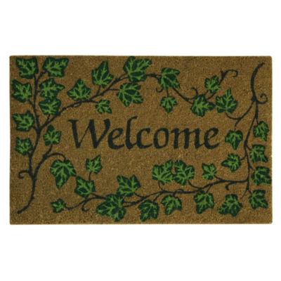 Outdoor Oasis Welcome Ivy Printed Rectangular Doormat