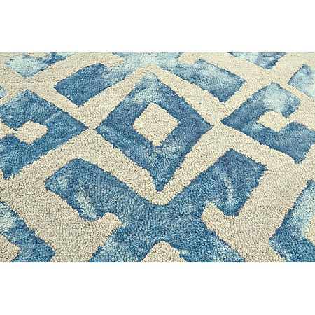 Weave And Wander Denby Hand Tufted Rectangular Indoor Rugs, One Size , Blue Product Image