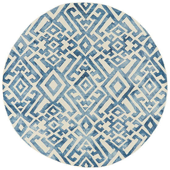 Weave And Wander Denby Hand Tufted Round Indoor Rugs