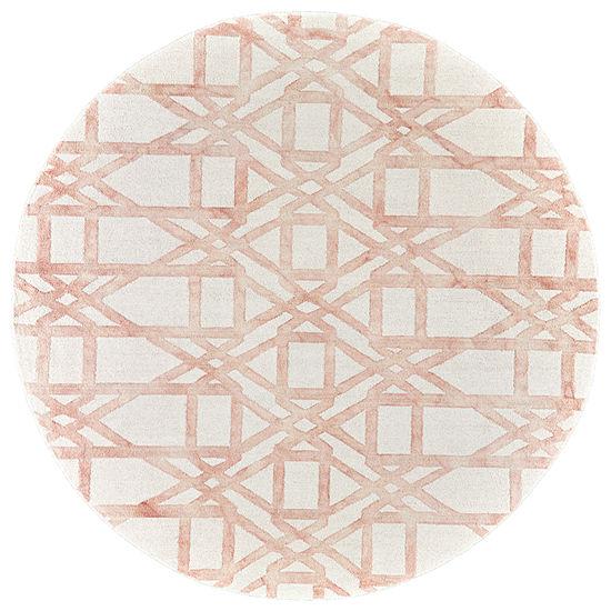 Weave And Wander Evangelista Hand Tufted Round Indoor Rugs