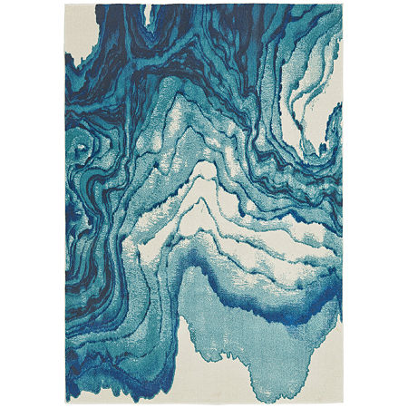 Weave And Wander Omari Camila Rectangular Indoor Rugs, One Size , Blue Product Image