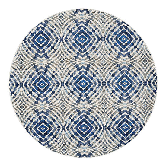 Weave And Wander Carini Rourke Round Indoor Rugs