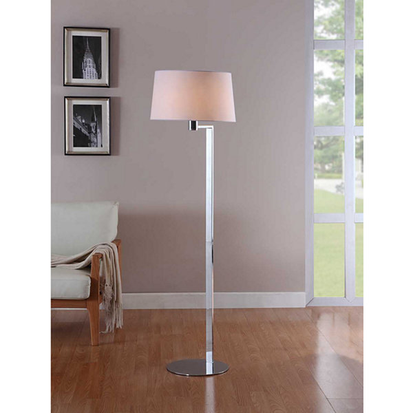 Tenbury Wells Collection 60-inch Modern Chrome Metal Floor Lamp
